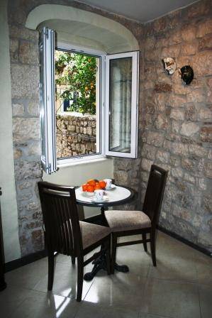 Enjoy breakfast by the open window and listen to the sounds of early morning Trogir
